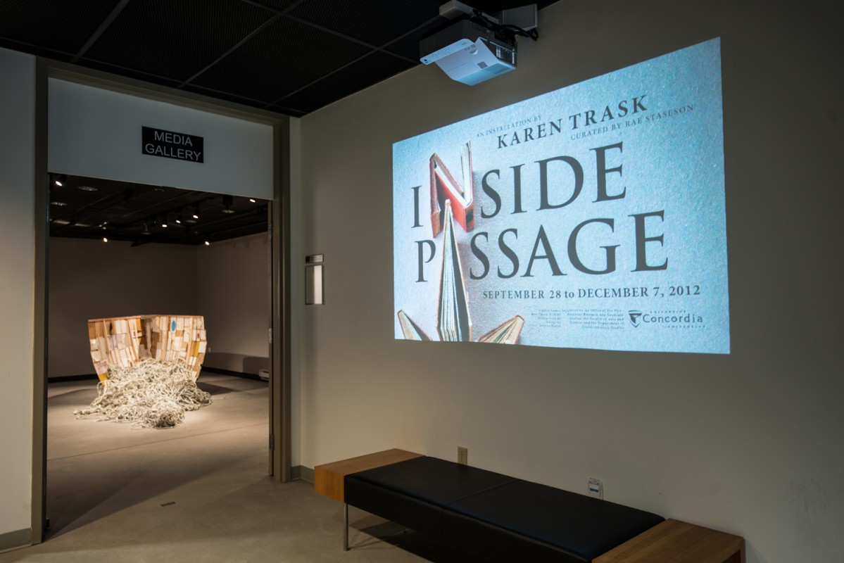 Inside Passage, Media Gallery, Concordia University, installation view, 2012